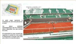Billet finale femme Roland Garros 2015