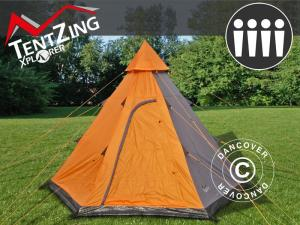 Campingzelt Teepee, TentZing®, 4 Personen, Orange