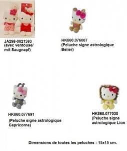 Magnifiques peluches Hello Kitty Modèles