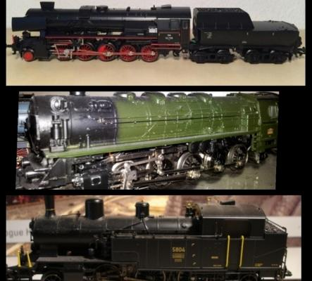 Kaleidoscope de locomotives vapeurs HO de Maerklin avec BO