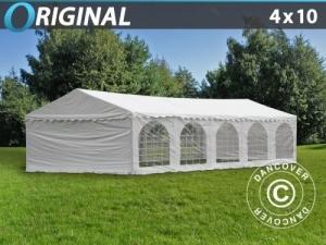Partyzelt Original 4x10m PVC, Weiß