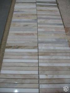 mosaique marbre beige sur filet