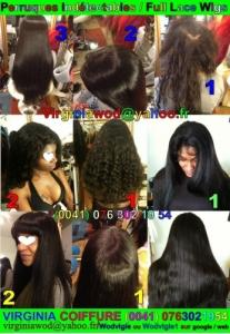 Full & Front lace wig/Perruque indétecta