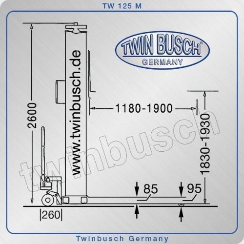 Pont élévateur 1 colonne 2,5 t TW 125-M
