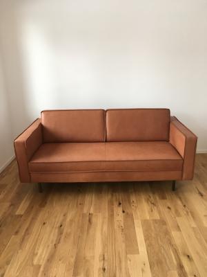 Canapé cuir neuf couleur cognac