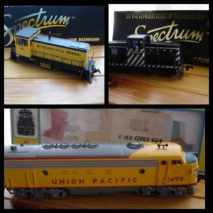 Trio locomotives de marques Atlas et Bachmann HO Spectrum