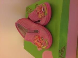 chaussons à fleur pour fille