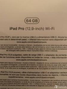 OVP Ipad Pro 3. Gen, 64 Go gris WIFI 12.9