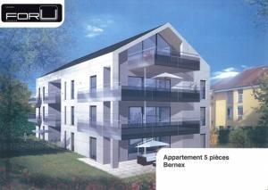 Très bel appartement moderne de 5 pièces avec terrasse à Bernex