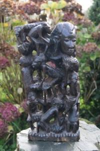 Rare et magnifique sculpture en bois d'ébène