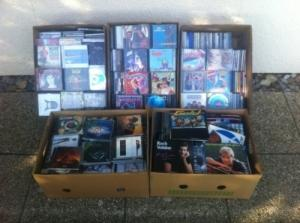 Gros lot de CD + disques 45 T