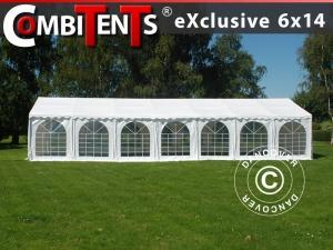 Partyzelt, Exclusive CombiTents® 6x14m 5-in-1, Weiß