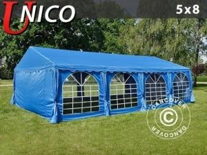 Partyzelt UNICO 5x8m, Blau