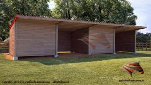 Außenboxen für Pferde, Pferdeställe, Weidehütte