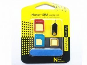 Nano SIM cartes 5 en 1 métal