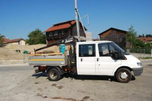 Ford Transit double cabine 6 place avec grue basculant
