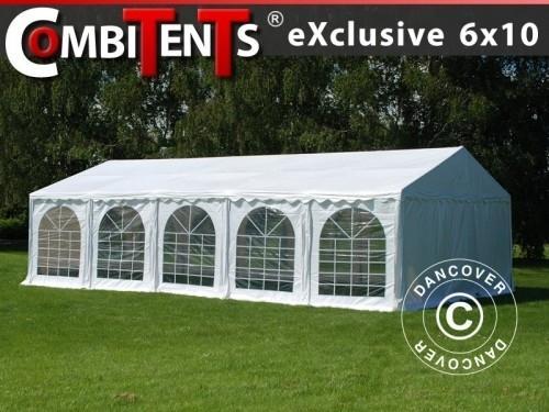 Partyzelt, Exclusive CombiTents® 6x10m, 3-in-1, Weiß
