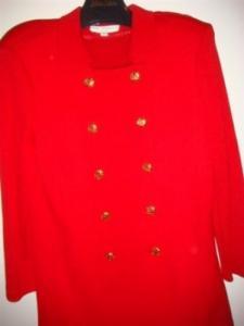 Tailleurs Ensemble St John wool red