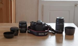 Canon 550d + 3 objectifs + cours photo