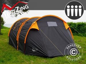 Campingzelt, TentZing® Tunnel, 4 Personen, orange/dunk