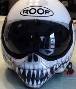 Mentonnière Casques motos  aérographe