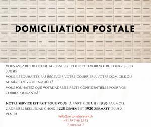 Domiciliation Postale