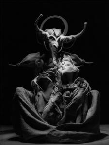 """Statue collector """"Faust"""" poussière de Bronze"""