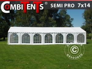 Partyzelt, SEMI PRO Plus CombiTents® 7x14m 5-in-1, Weiß