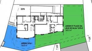 En construction, appartement de 4,5 pces avec jardin de 343 m2 !