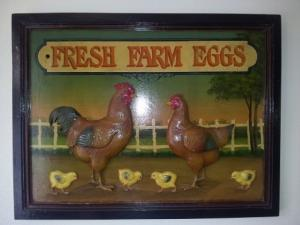 "Tableau Country Corner ""Fresh Farm Eggs"""