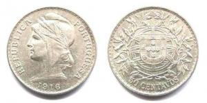 50 Centavos - 1916 Argent