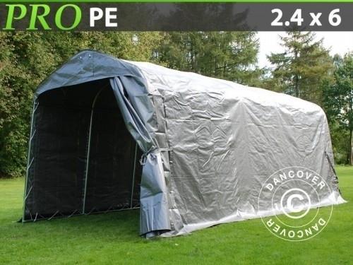 Lagerzelt PRO 2,4x6x2,34m PE, Grau