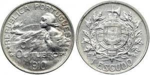 1 Escudos - 5 de Outubro 1910