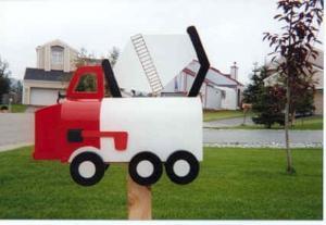 Boites aux lettres camion de ciment