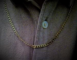 Collier-chaîne homme plaqué or 18 carats 59,5 cm