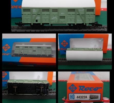 Roco HO 44322A (46440) SNCF wagon à bovins