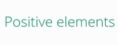 Positive elements  - Petites annonces